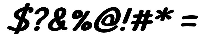 TYPO COMICS Bold Italic DEMO Font OTHER CHARS