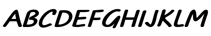 TYPO COMICS Bold Italic DEMO Font UPPERCASE