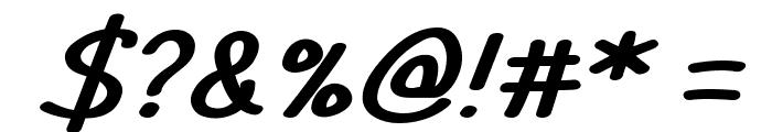 TYPO COMICS Italic DEMO Font OTHER CHARS