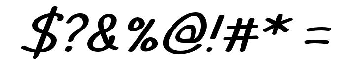 TYPO COMICS Light Italic DEMO Font OTHER CHARS