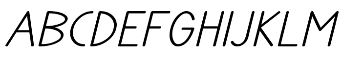 TYPONOME Italic Font UPPERCASE