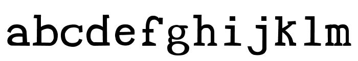 Tye Paloon Font LOWERCASE