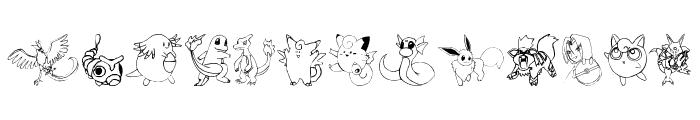 Tyler's Pokemon Font LOWERCASE