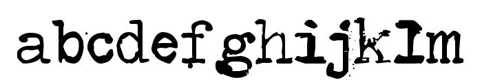 Type-Ra Font LOWERCASE