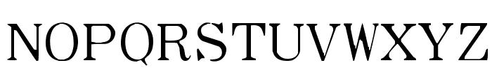 Type Wheel Font UPPERCASE