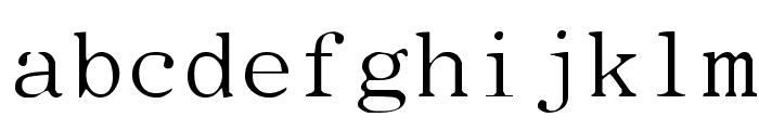 Type Wheel Font LOWERCASE