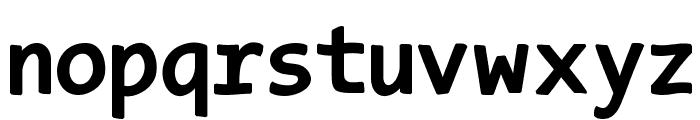 TypeWritersSubstitute-Black Font LOWERCASE