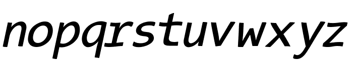 TypeWritersSubstitute-Oblique Font LOWERCASE