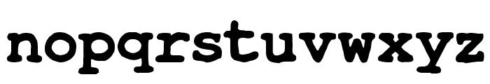 TypeWrong Smudged Bold Font LOWERCASE