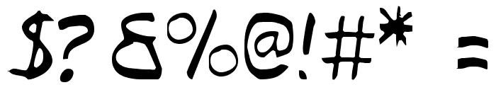 Typeecanoe Light Font OTHER CHARS