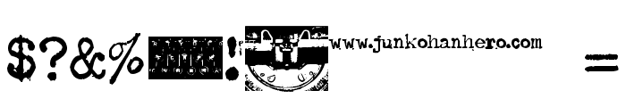 Typenoksidi Font OTHER CHARS