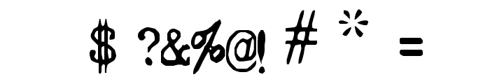 Typeset Font OTHER CHARS