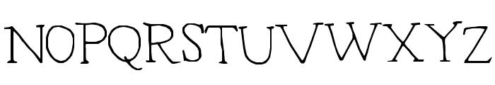 Typeset Font UPPERCASE