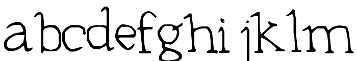 Typeset Font LOWERCASE