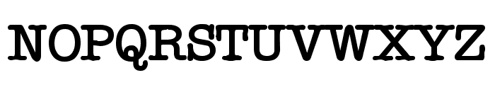 Typewriter Bold Font UPPERCASE