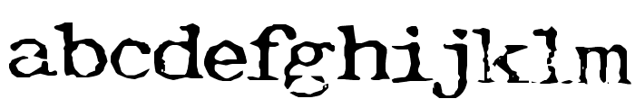 Typewriter-Font [Royal 200] Font LOWERCASE