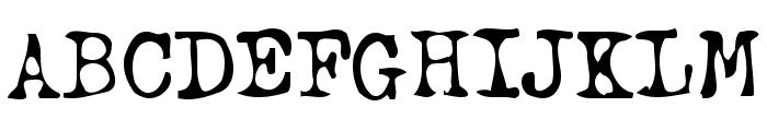 Typewriter Oldstyle Font UPPERCASE