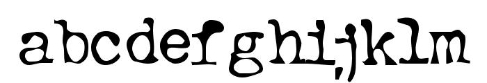 Typewriter Oldstyle Font LOWERCASE