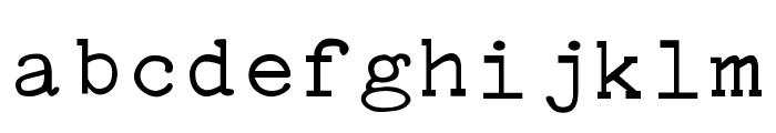 Typewriter PG Font LOWERCASE