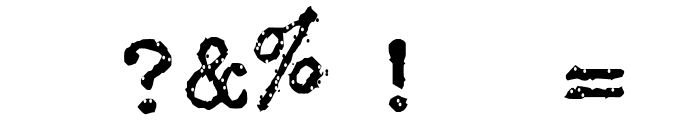 Typewriter - Remington RIVIERA Font OTHER CHARS