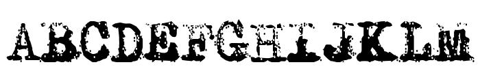 Typewriter - Remington RIVIERA Font UPPERCASE