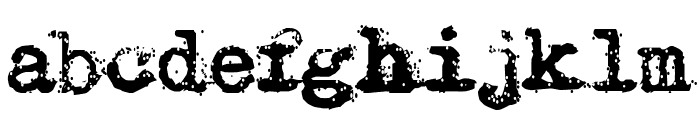 Typewriter - Remington RIVIERA Font LOWERCASE