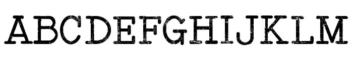 Typewriter Style Font UPPERCASE