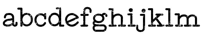 Typewriter Style Font LOWERCASE