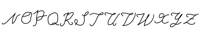 Typewriter Font UPPERCASE