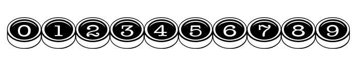 TypewriterKeys Font OTHER CHARS