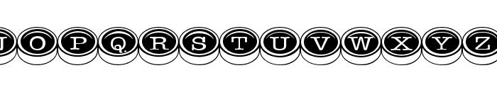 TypewriterKeys Font UPPERCASE
