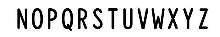 Typewriter_Condensed Bold Font UPPERCASE
