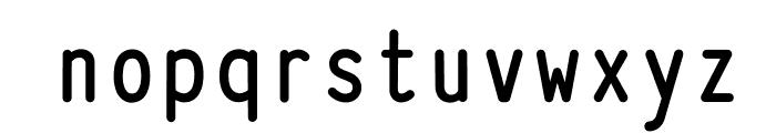 Typewriter_Condensed Bold Font LOWERCASE