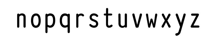 Typewriter_Condensed_Demi Font LOWERCASE