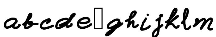 Typewriter Font LOWERCASE