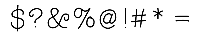 Typewriterhand Font OTHER CHARS