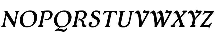 Typey McTypeface Italic Font UPPERCASE