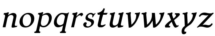 Typey McTypeface Italic Font LOWERCASE