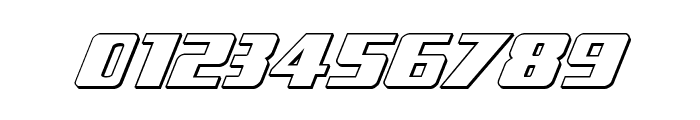 Typhoon 3D Italic Font OTHER CHARS