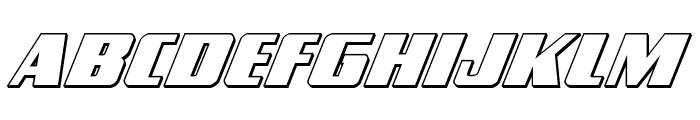 Typhoon 3D Italic Font LOWERCASE