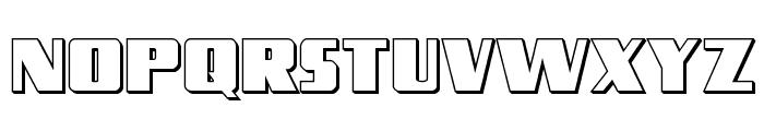 Typhoon 3D Regular Font LOWERCASE