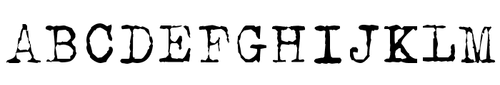 Typical Writer Font UPPERCASE