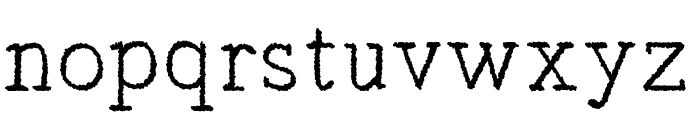 Typist's Pseudonym Font LOWERCASE