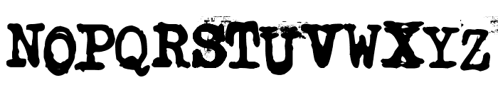 Typistys Font UPPERCASE
