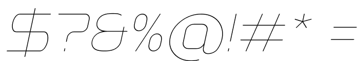 Typo Angular Rounded Thin Demo Italic Font OTHER CHARS