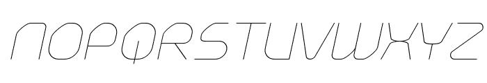 Typo Angular Rounded Thin Demo Italic Font UPPERCASE