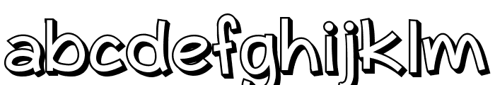 Typo Comica Outline Font LOWERCASE