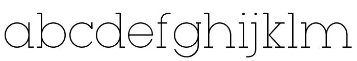 Typo GeoSlab Thin Demo Font LOWERCASE