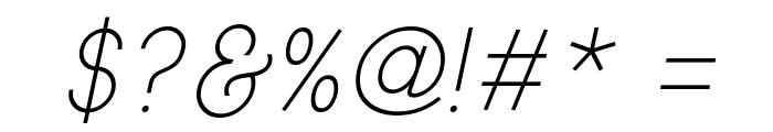 Typo Gotika Light Demo Italic Font OTHER CHARS