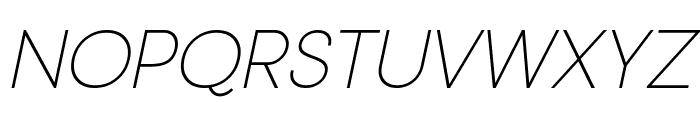 Typo Gotika Light Demo Italic Font UPPERCASE